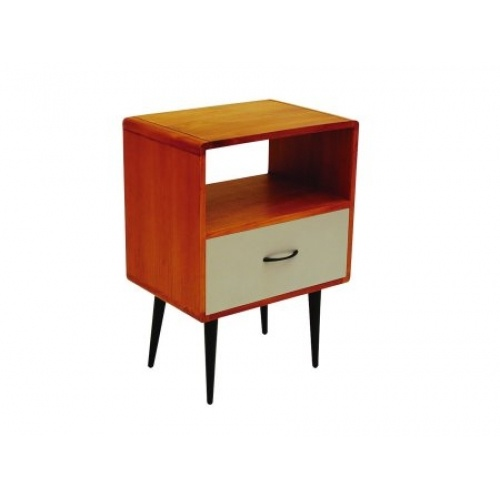 Mid Century One Coloured Drawer Bedside Cabinet