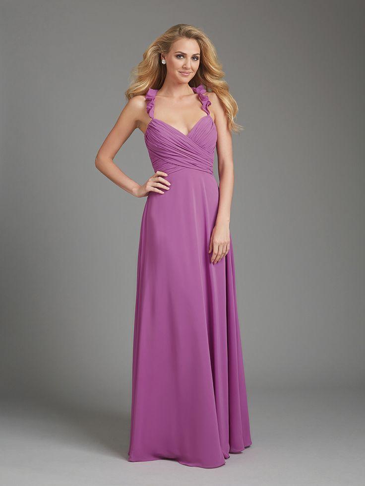 22 best allure bridesmaid dresses at the vow images on pinterest allure 1364 bridesmaid dress ruffled halter straps v neck junglespirit Choice Image