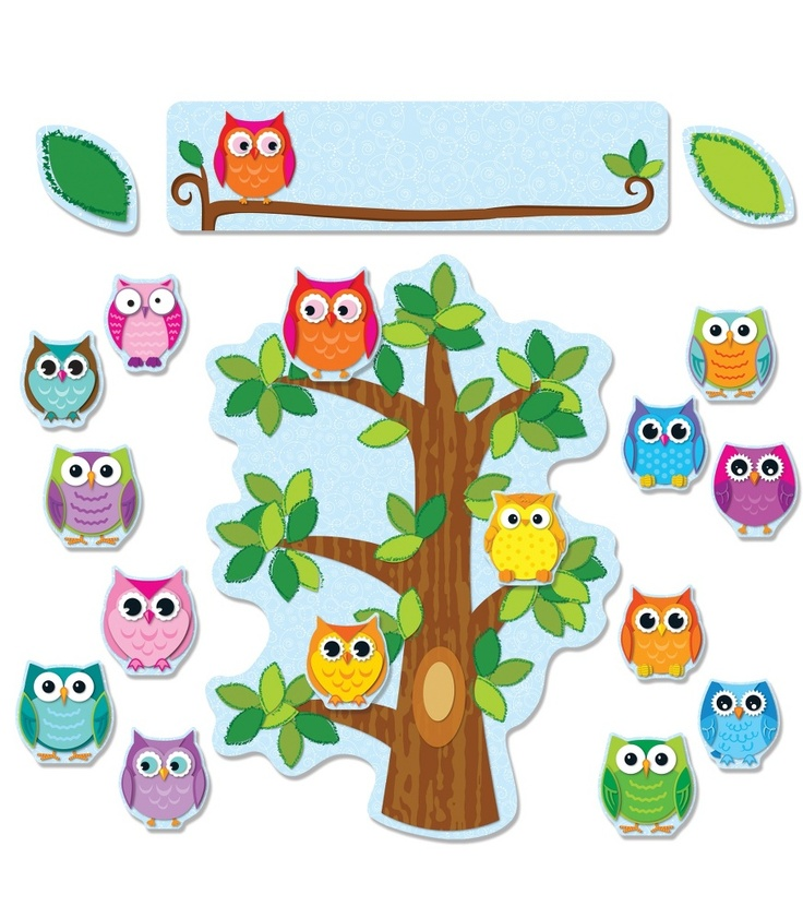 Colorful Owls Behavior Bulletin Board Set | Classroom décor from Carson-Dellosa