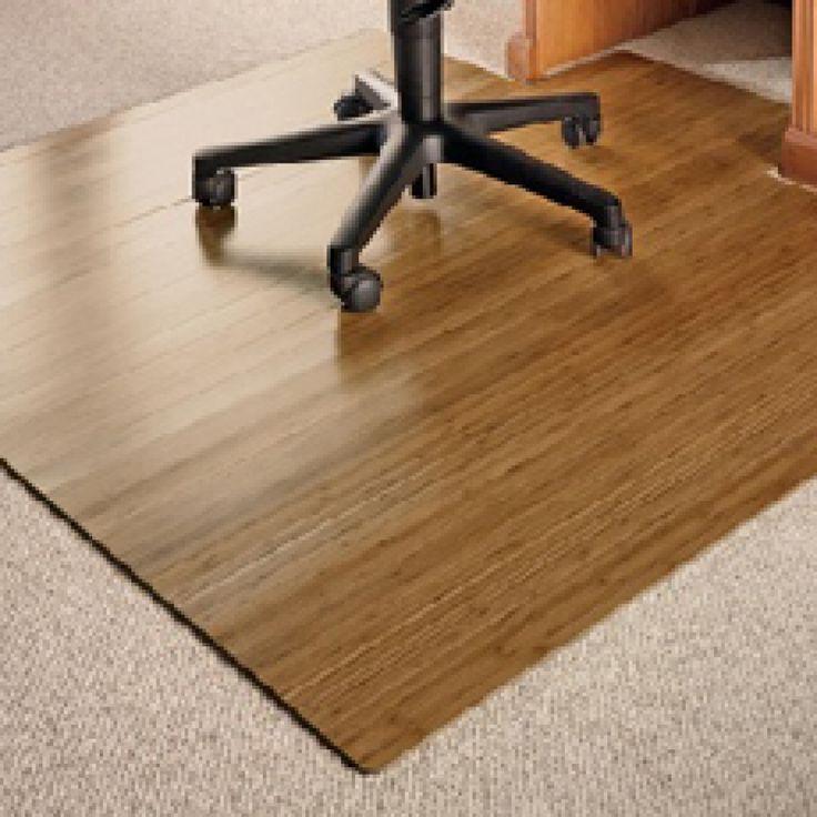 Bamboo Office Chair Mat Office chair mat, Chair mats