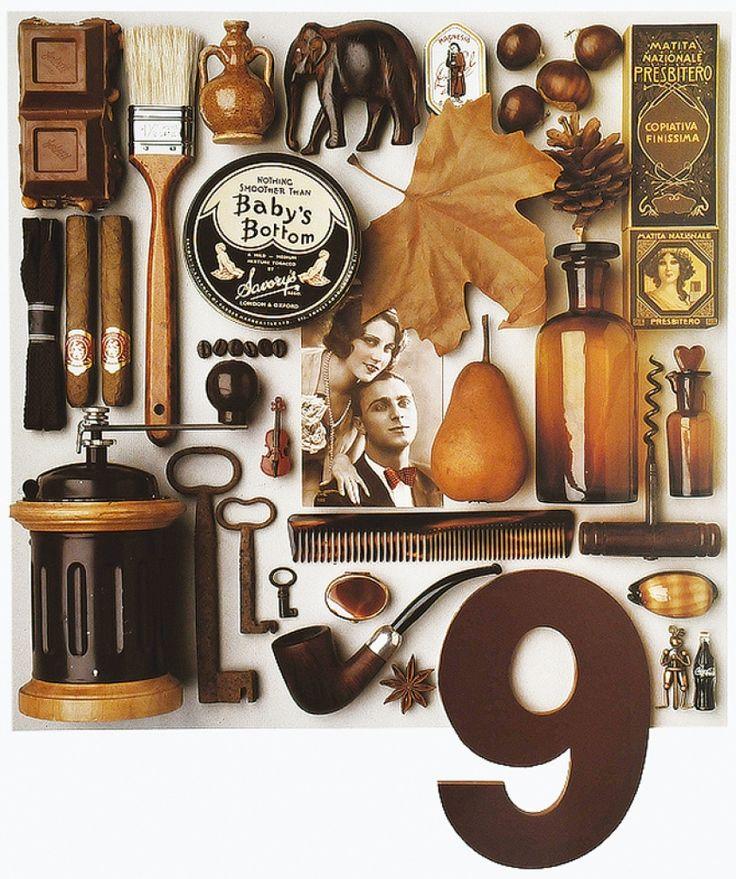 Brown (September)  Ensemble in Color calendar 1992.  Photographs by Guido Cecere.