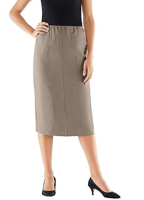 fc711af10f Unbranded Elasticated Midi Skirt Taupe Size UK 12 DH086 MM 20 #fashion # clothing #shoes #accessories #womensclothing #skirts (ebay link)