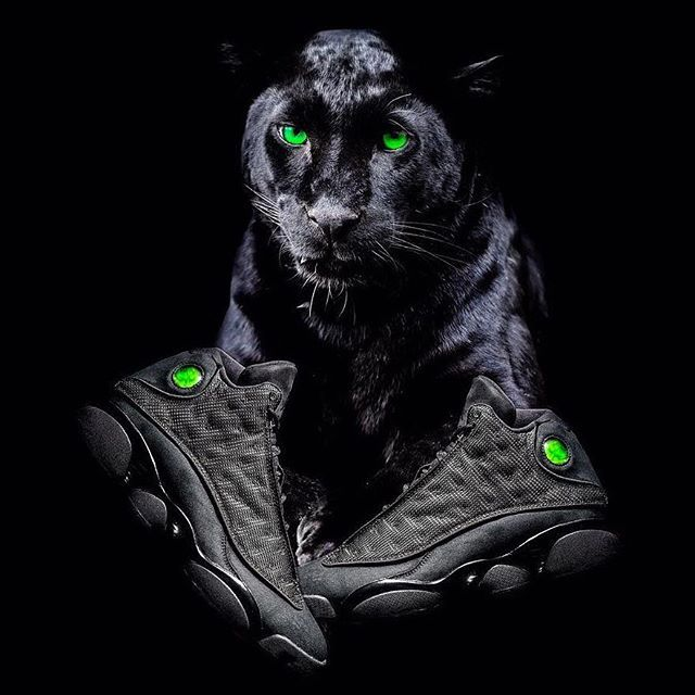 "The Air Jordan 13 ""Black Cat"" releases in January 2017. For more details, tap the link in our bio. #sneakerfreaker #kickstagram #sneakerhead"