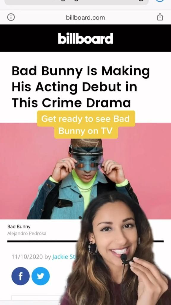Bad Bunny Coming To A Tv Series Soon Video Tv Horror Netflix Movie Acting