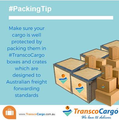 Make sure your cargo is well protected by packing them in#TranscoCargo boxes and crates which are designed to Australian freight forwarding standards!