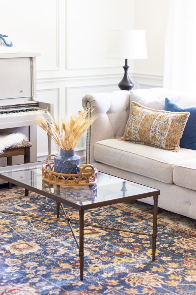 Fall Decorating Ideas For A Living Room Shades Of Blue Interiors In 2020 Fall Living Room Living Room Design Inspiration Living Room Shades