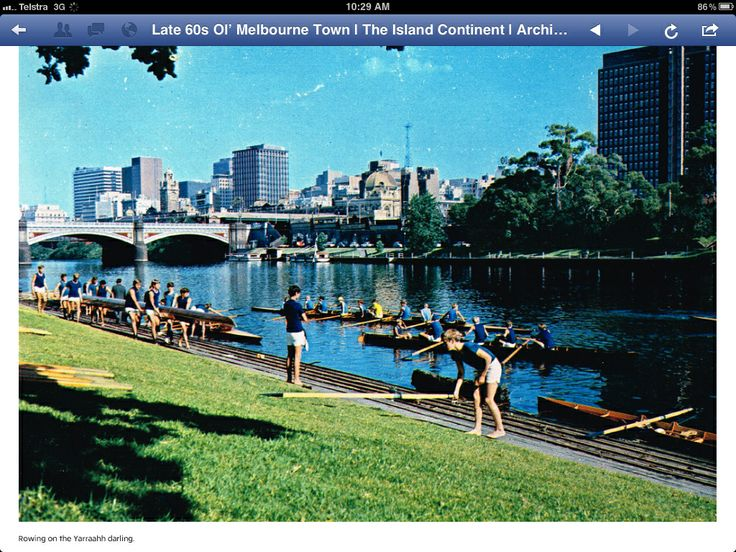 Rowing on the Yarra River Melbourne