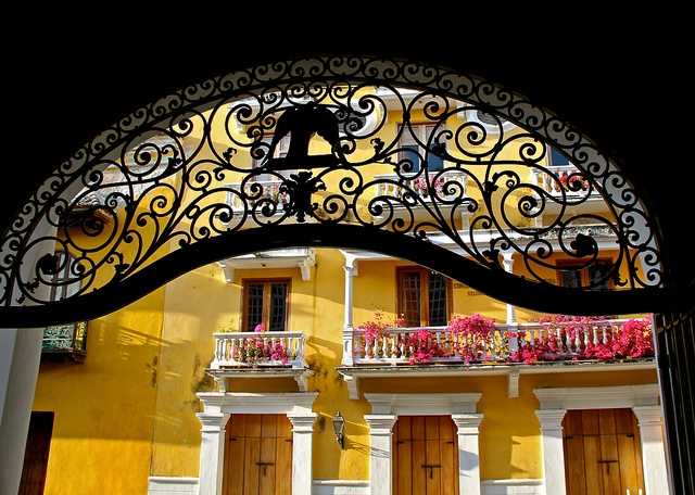 Old wrought iron entrance by flower_bee, via Flickr