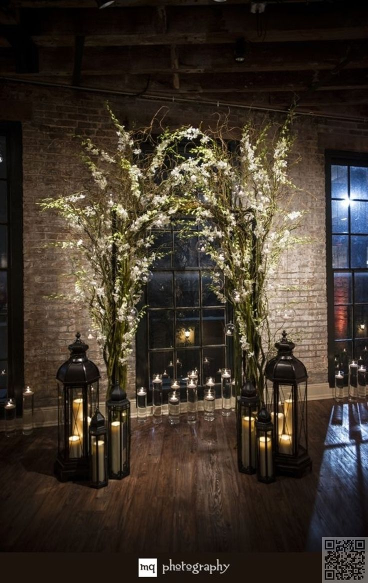 44. Like a #Homely Mantle - 53 #Wedding #Arches, Arbors and #Backdrops ... → Wedding #Vintage