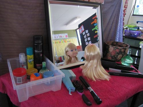 Things that grow...hair/nails...A dramatic play centre. This would be great to…