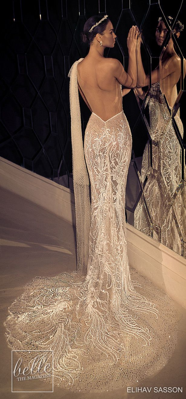e73b86de5da7 Elihav Sasson Wedding Dresses 2019 - Enamoured Collection | Mermaid, Sheath  and Fitted Wedding Dresses | Pinterest | Wedding, Wedding dresses and  Gorgeous ...