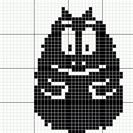 Barbouille Barbapapa perler bead pattern