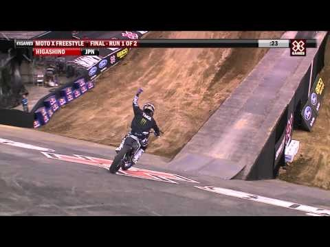 [X Games 2012]. Taka Higashino takes gold in Moto X Freestyle on the first night of X Games 2012 competition.