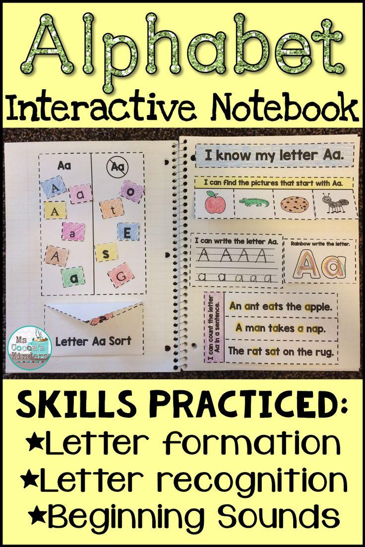 1477 best kindergarten alphabet images on pinterest for Alphabet letter notebook