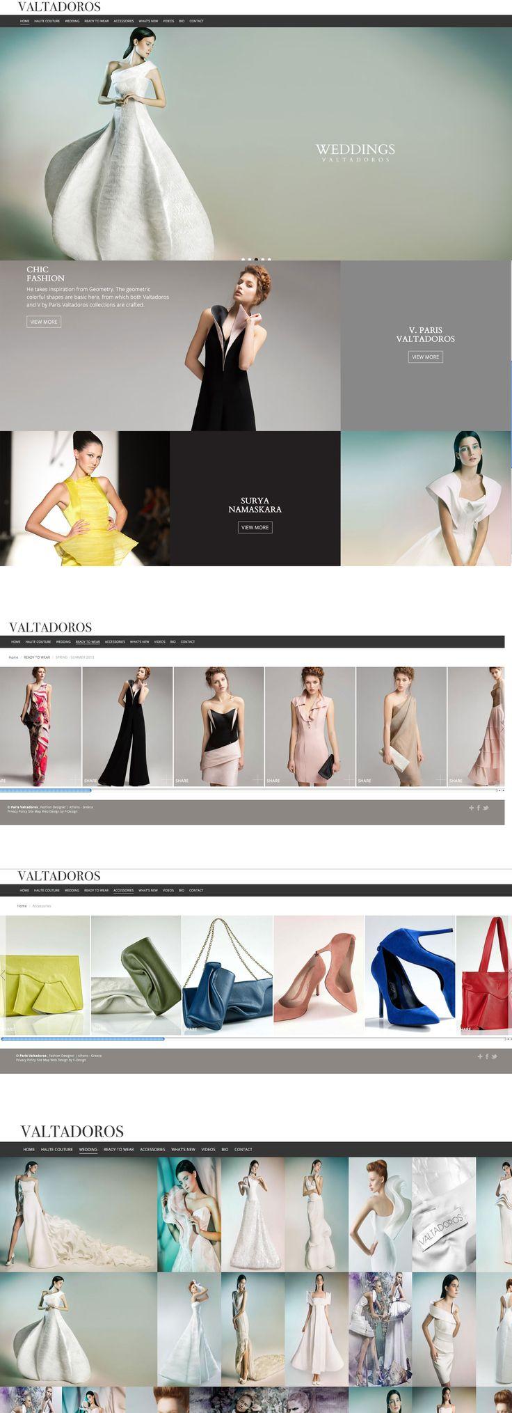 Website for fashion designer Paris Valtadoros! http://www.parisvaltadoros.com/