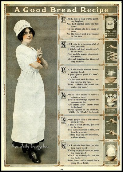 A Good Bread Recipe on Flickr.From: Gold Medal Flour, 1910.