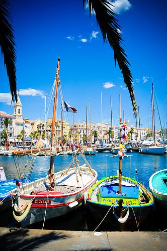 The harbor of Sanary sur Mer, French Riviera