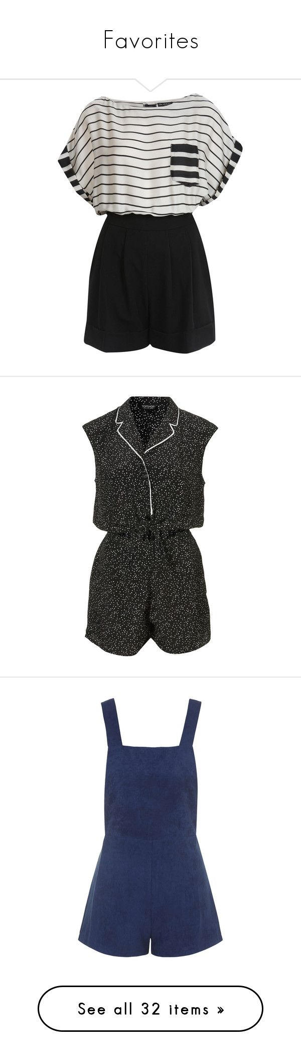 """""""Favorites"""" by bruna-nieto ❤ liked on Polyvore featuring jumpsuits, rompers, dresses, playsuits, jumpers, women, jump suit, striped romper, miss selfridge jumpsuit and miss selfridge"""