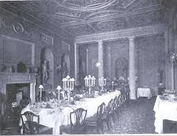 Another original view of the dining room, Lansdowne House, London.