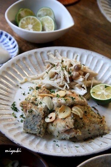 フライパンでアジの香草パン粉焼き と 冬瓜の煮物。 by miyukiさん ...