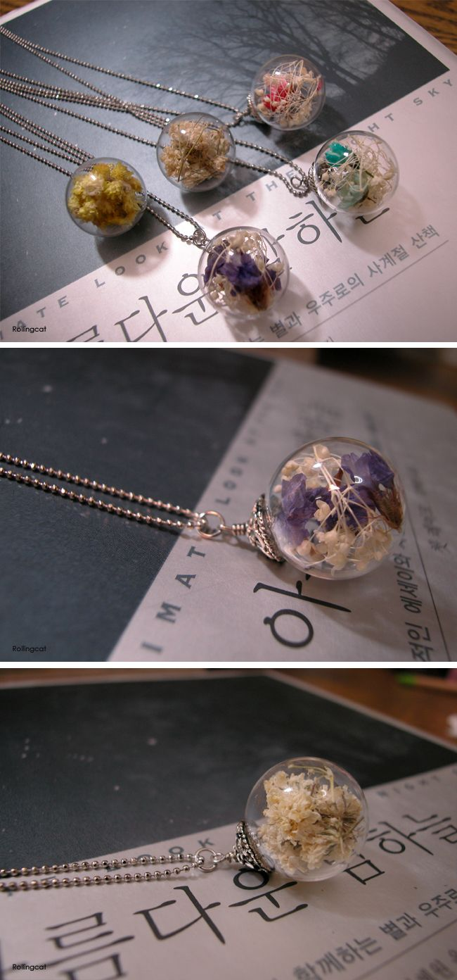 Glass ball necklaces