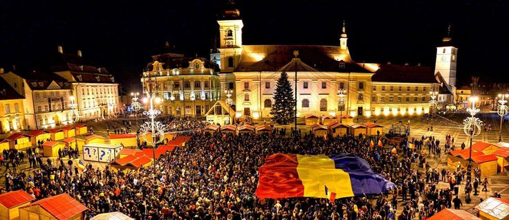 Sibiu. Romania. The hometown of Klaus Iohannis. He was the mayor of Sibiu between 2000 and 2014. (Foto: Facebook/ Lucin Mandruta)