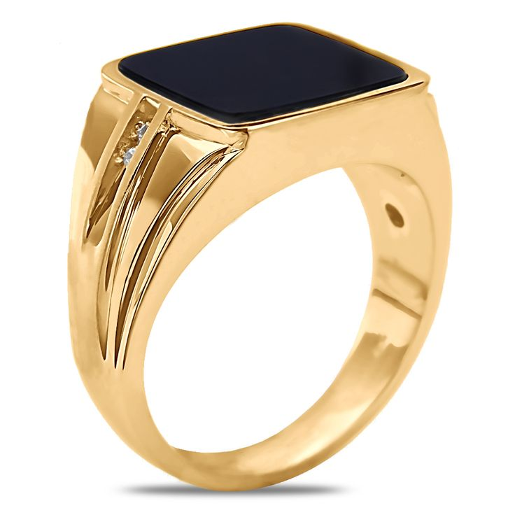 Amazon NissoniJewelry presents - 1/2cttw Diamond Gents Ring in 14k ...