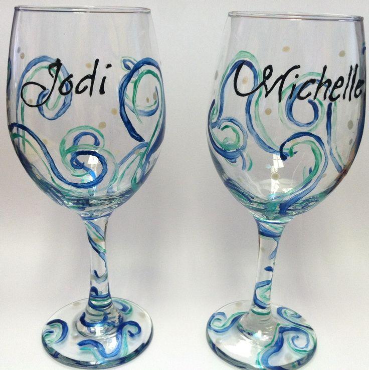 light item wine decor cfm century index f stippled a the glasses decorative glass baluster engraved