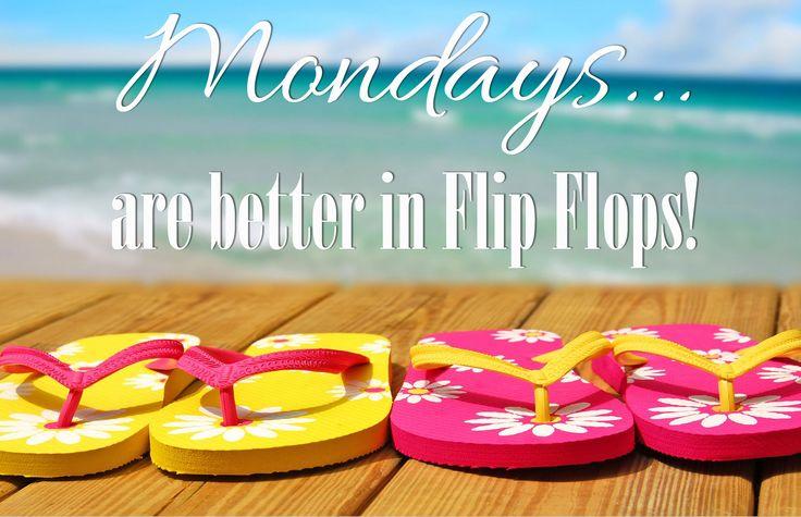 #Mondays... are better in Flip Flops! #flipflops #sandbridge #vabeach #siebert   Siebert Realty - The Beach People Sandbridge Beach, Virginia Beach, VA