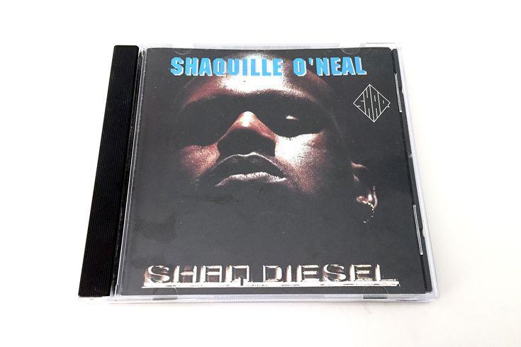 Vintage 90s Shaq Diesel Rap Hip Hop CD, 1993 Shaquille O'Neal Music Disc