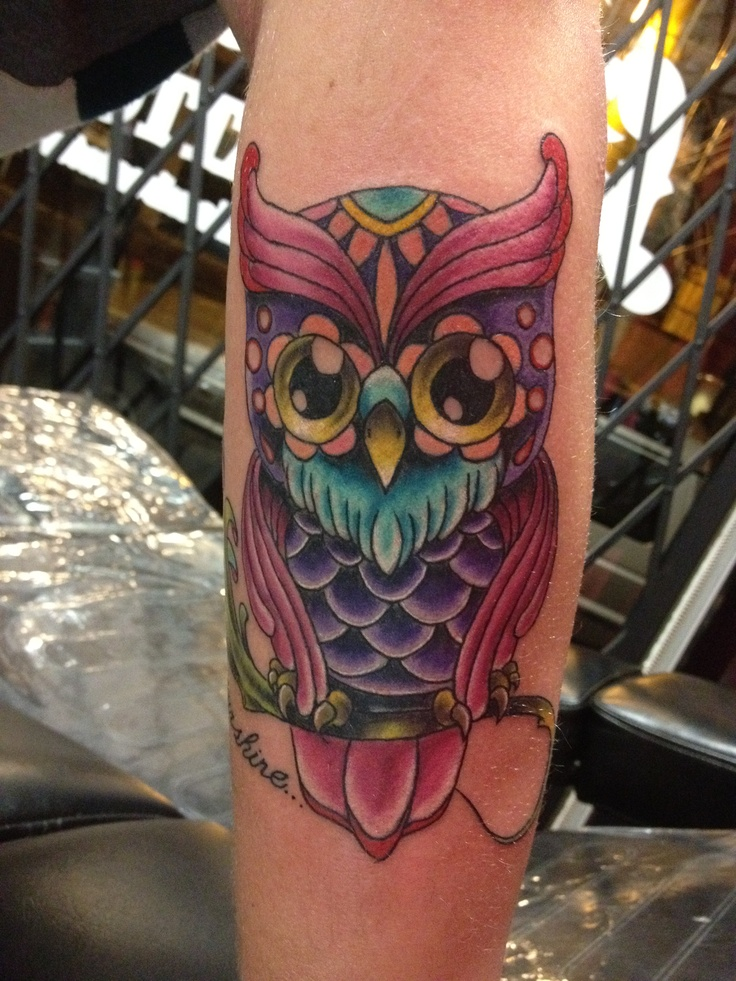 owl tattoos tattoo cute owls arm amazing eyes ink cool inked colorful models inlove night eye discover