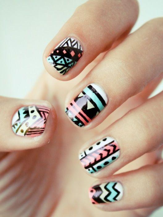 Tribal nail art