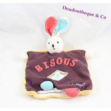 Doudou marionnette lapin KALOO Sweet life Bisous Tout Doux 23 cm