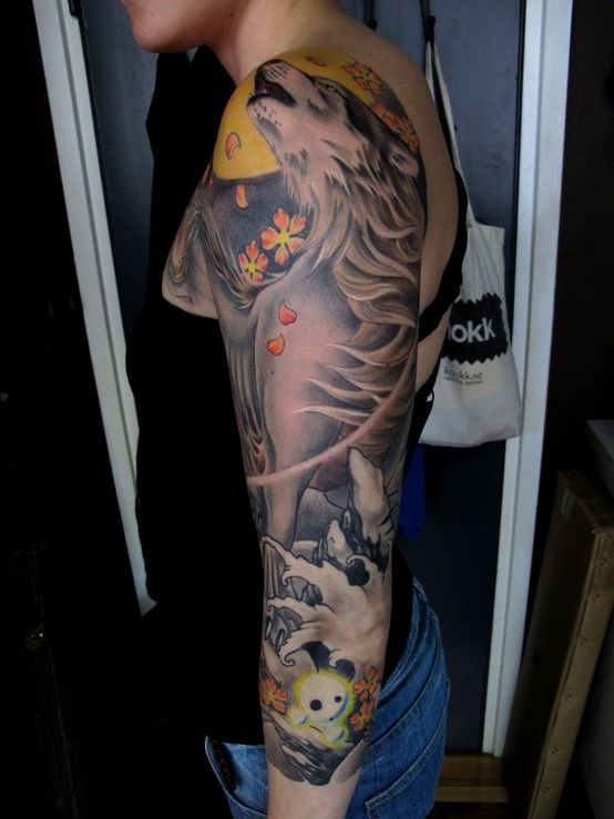 Princess Mononoke Tattoo. | Amazing Skin Art | Pinterest