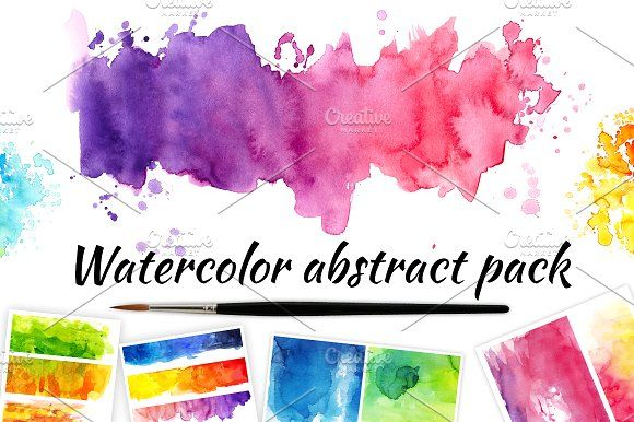 Watercolor abstract pack  by Nicolai-works on @creativemarket