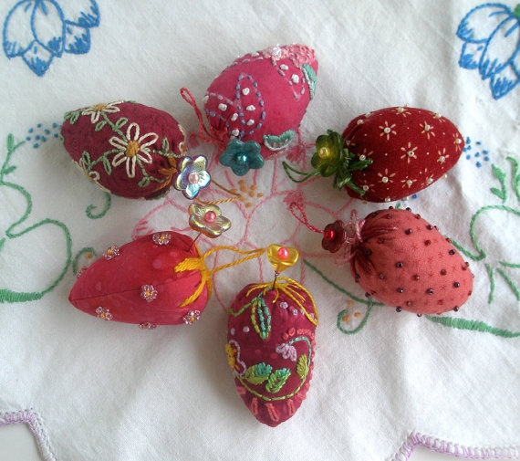 Assorted Strawberry Emery Pin Cushions