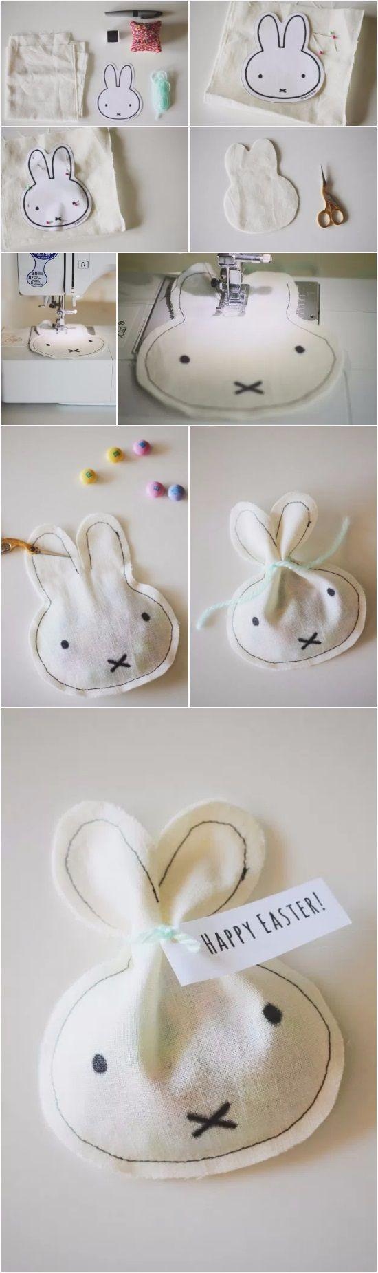 DIY // Miffy Inspired Easter Treat Bags   DIY Fun Tips