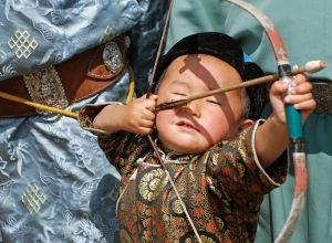 child archer Mongolia Ulaanbaatar