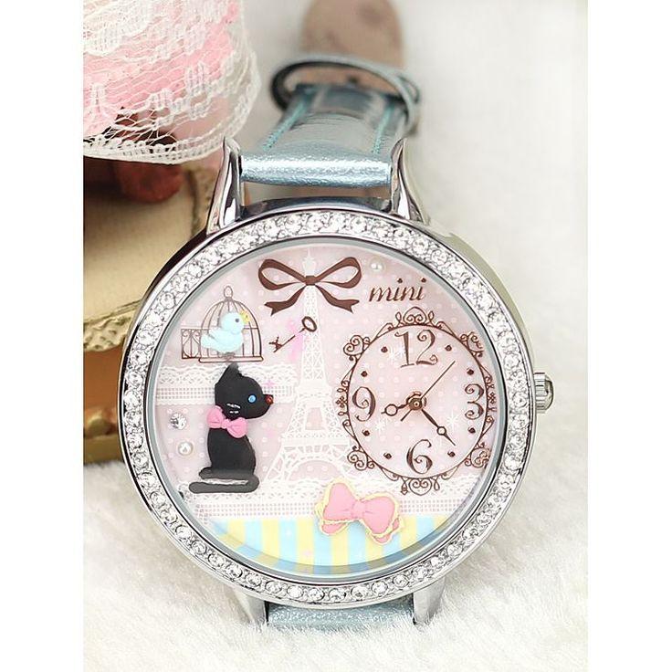 REF.43 Reloj con mini-figuras en 3d porcelana fría.  100% originales, garantía 1 año
