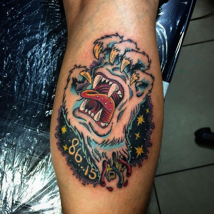 Screaming hand / Santa Cruz tattoo