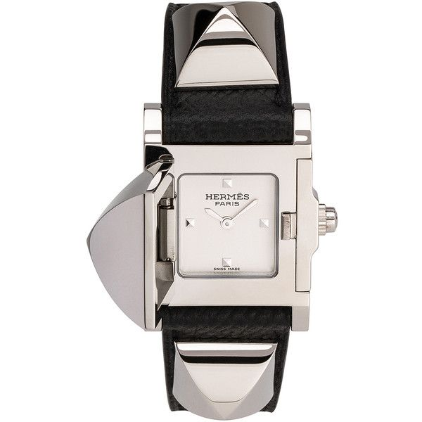 Hermes Medor pm (5,257,430 KRW) ❤ liked on Polyvore featuring jewelry, watches, stainless steel jewelry, stainless steel jewellery, stainless steel wrist watch, hermès and hermes jewelry