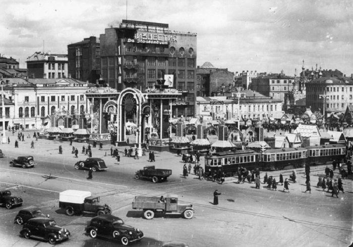 Старая Москва, 1940 год. Фотограф Наум Грановский.