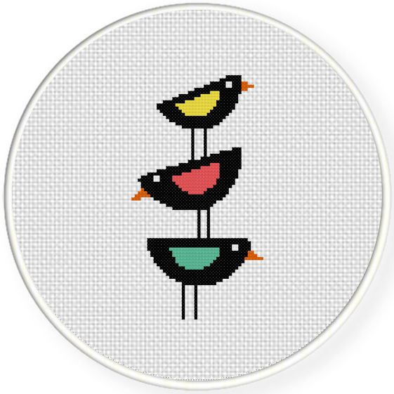 FREE for August 8th 2015 Only - Birds Stack Cross Stitch Pattern
