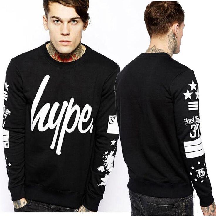 2015 Primavera auturn marca lana hombres de La Moda Impreso Sudaderas Con Capucha Hombre Negro sudaderas con capucha del Hip Hop Para Hombre Camisetas hip hop en Camisas y Sudaderas de Ropa y Accesorios en AliExpress.com | Alibaba Group