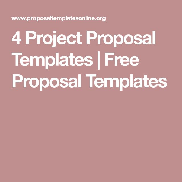 4 Project Proposal Templates | Free Proposal Templates