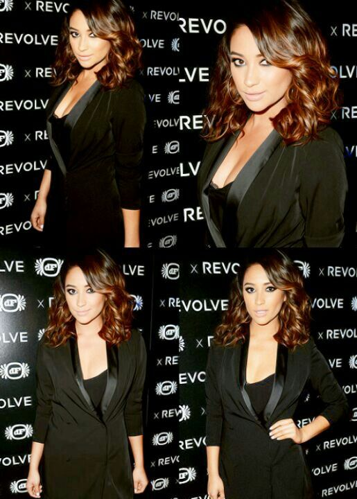 Shay Mitchell with short hair. love this cut, the layers and bangs are perfect.