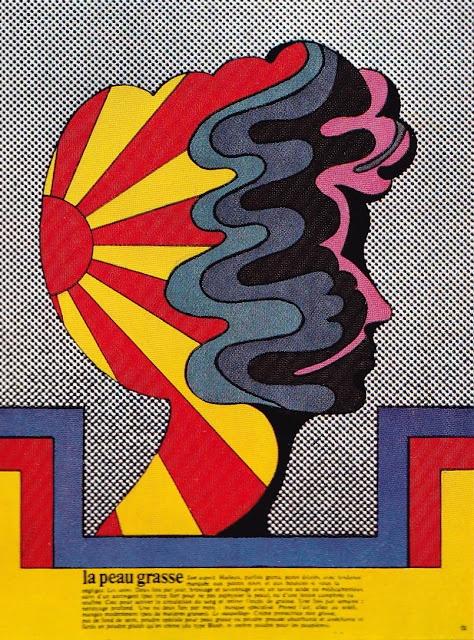 """La Peau Grasse"" by Milton Glaser for Gebrauchsgraphik International, January, 1971"