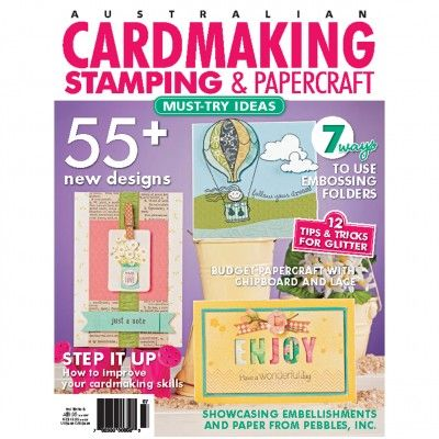 Cardmaking, Stamping & Papercraft - Volume 19 No.5 ($1.95). Find out more at: http://www.patchworkandcraft.com.au/digital-magazines/cardmaking-stamping-papercraft-volume-19-no-5.html