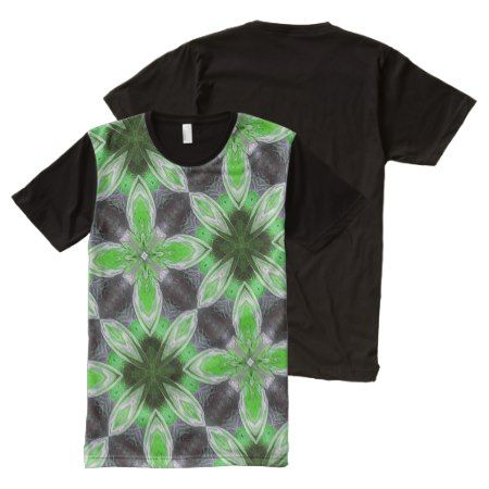 green modern abstract trendy pattern All-Over-Print shirt - tap to personalize and get yours