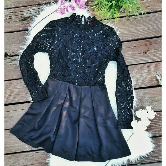 Black Lace Dress Gorgeous black lace dress, long sleeve, knee lenght. Dresses Midi